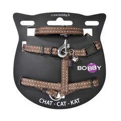 Pack harnais et laisse Safe pour chat de couleur marron T10