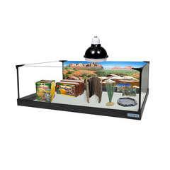 Kit pour tortue terrestre: Terrarium (L80x35xH25cm) équipé