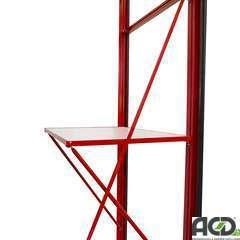 Etagère 1 vitre laquée, pour serre ACD (71,5cm x 32cm)