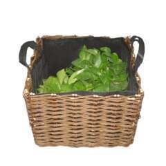 Panier potager, en osier (avec sac pour planter) L.50 x 40 x H.40 cm