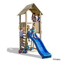 Air de jeux bois plastique CAROL1 toboggan, échelle à barreau - 2,90 m