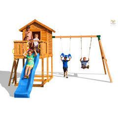 Air de jeux MYHOUSE MOVE toboggan, échelle, traprèze -2,85m