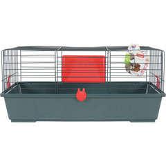 Cage Classic pour lapin, cochon d'inde : L81 cm, cerise