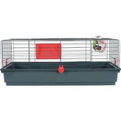 Cage Classic pour lapin, cochon d'inde : L103 cm, cerise