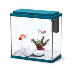 Aquarium Sarawak poisson d'eau douce, bleu - 10 litres