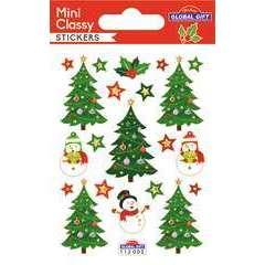 Stickers Mini classy Noël 7x10 cm