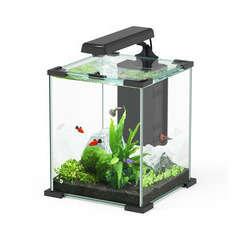 Aquarium Nano Cube Sarawak poisson d'eau douce, noir - 16,7 litres
