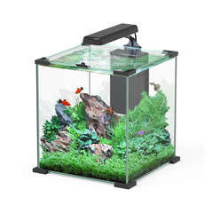 Aquarium Nano Cube Sarawak poisson d'eau douce, noir - 32,2 litres
