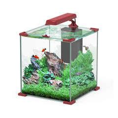 Aquarium Nano Cube Sarawak poisson d'eau douce, rouge - 32,2 litres