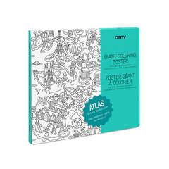 Poster à colorier, 70x100cm - Atlas