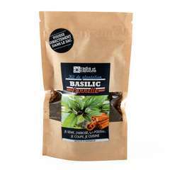 Sac kraft de graines basilic cannelle
