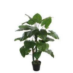 Taro vert artificiel, en pot D60 x H. 120 cm