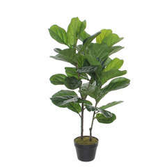 Ficus Lyrata artificiel, en pot D60 x H. 100 cm