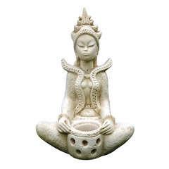 Statue Indou, ton vieille pierre l. 32 x H. 55 cm