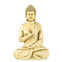 Bouddha Hindou en pierre reconstituée, ton vieilli H40cm