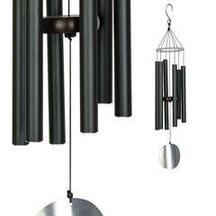 Carillon Auréole en aluminium, noir H. 71 cm