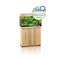 Aquarium avec meuble LED Rio 125 en bois - H.73 cm