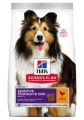 Croquettes chien estomac et peau sensibles au poulet : 12kg