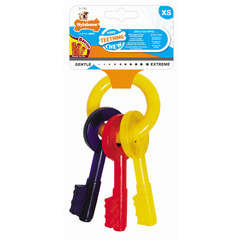 Nylabone puppy clefs keys 'xs' bacon