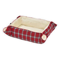 Multirelax TARTAN pour chien rouge taille S, L75xl60cm