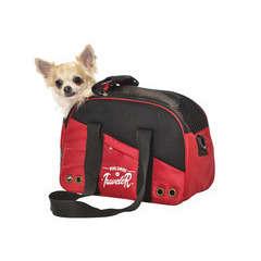 Sac de transport PARADISE pour chien rouge taille S, L45xl17xH30 cm