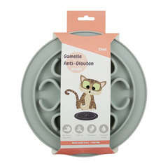 Gamelle Anti-glouton Antidérapante pour Chat, en silicone, Grise