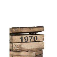 Caisse en bois, avec couvercle à charnières L. 30 x 20 x H. 18 cm