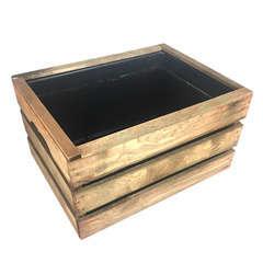 Caisse en bois pour plantes aquatiques, marron L.39x30xH.23cm