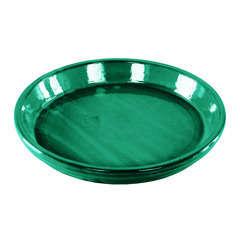 Soucoupe en terre cuite émaillée, coloris jade D36 cm