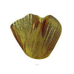 Petales de Rose artificiels x 100 Or avec Feuilles en tissu