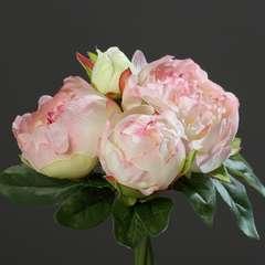 Bouquet de superbes Pivoines Rose artificielles Hauteur 20 cm Top