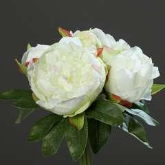 Bouquet de superbes Pivoines Creme artificielles Hauteur 20 cm Top
