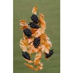 Guirlande de feuillage automnal avec raisin en Plastique soufflé L 2 m