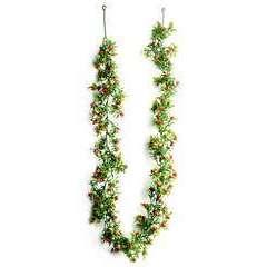 Guirlande fleurie artificielle boutons de Roses en Plastique L 180 cm