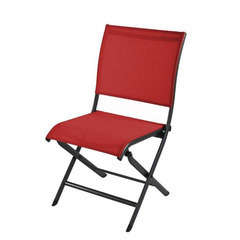 Chaise pliante ELEGANCE Grey rouge
