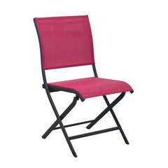 Chaise pliante ELEGANCE Grey Framboise