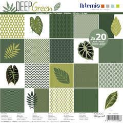 Set de 40 feuilles de papier Artemio - Deep Green