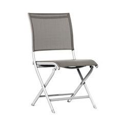 Chaise pliante ELEGANCE Blanc Taupe X2