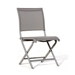 Chaise pliante ELEGANCE Taupe taupe X2