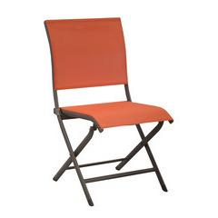 Chaise pliante ELEGANCE Café Paprika X2