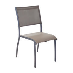 Chaise empilable ELEGANCE Taupe taupe X2
