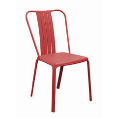 Chaise alu AZURO empilable RougeX2