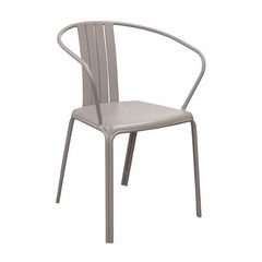 Fauteuil alu AZURO empilable Taupe X2