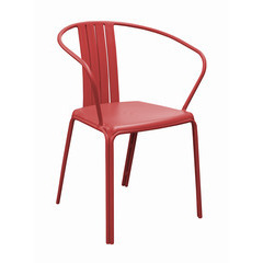 Fauteuil alu AZURO empilable Rouge X2