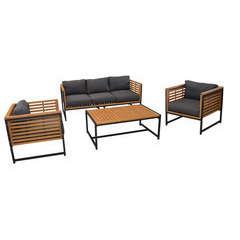 Set détente VEGAS (2 fauteuils, 1 Canapé + 1 Table basse)