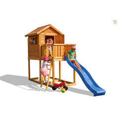 Air de jeux FUNGO MY HOUSSEL maisonnette, toboggan L440xl165xH285cm