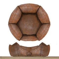 Sofa hexagonal 'Club House', pour chien: Coloris camel 38x38cm
