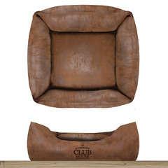 Sofa carré 'Club House', pour chien: Coloris camel 55x55cm