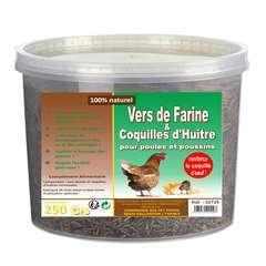Vers de farine et coquilles d'huitres - 250 g