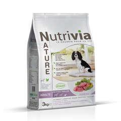 Nutrivia Nature Aliments complets pour chien (petite race): Agneau,3kg